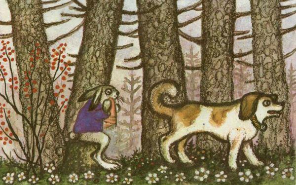 сказка лиса и заяц иллюстрации к сказке васнецова встречали когда-нибудь ту